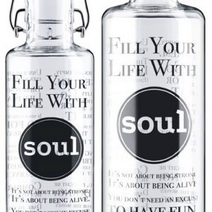 Afbeelding van de 0,6 en 1 liter Soulbottle fill your life with soul